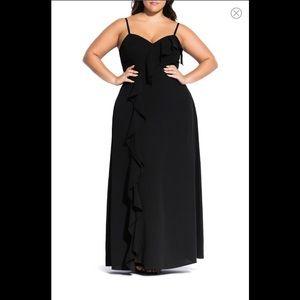 Catalina Black Maxi Dress